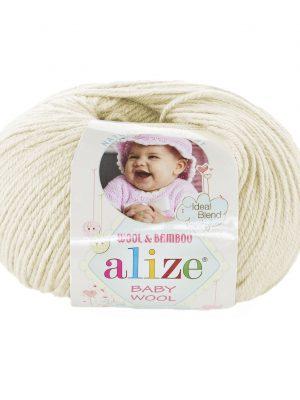 01 Alize Baby Wool (кремовый)