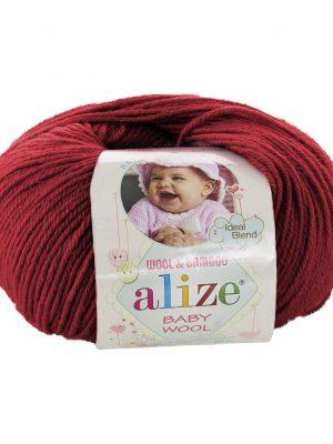 106 Alize Baby Wool (темно-красный)