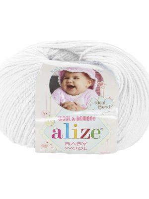 55 Alize Baby Wool (белый)
