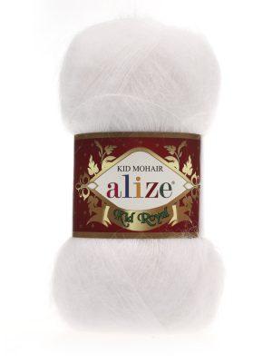 55 Alize Kid Mohair Royal (белый)