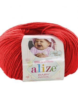 56 Alize Baby Wool (красный)