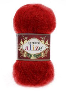 56 Alize Kid Mohair Royal (красный)