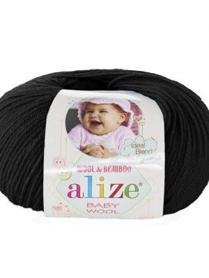 60 Alize Baby Wool (черный)
