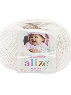 62 Alize Baby Wool (молочный)