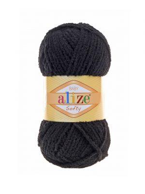 60 Alize Softy (черный)