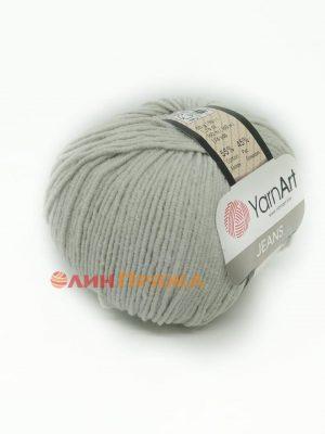 49 YarnArt Jeans (бело-серый)
