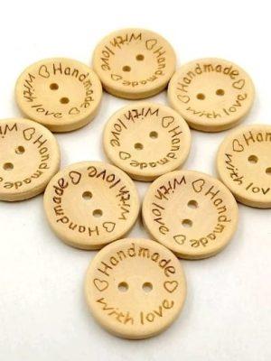 Пуговицы деревянные Handmade 15 мм