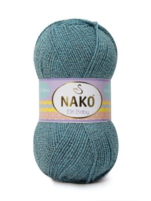 21355 Nako Elit Baby (бирюзово-серый мулине)