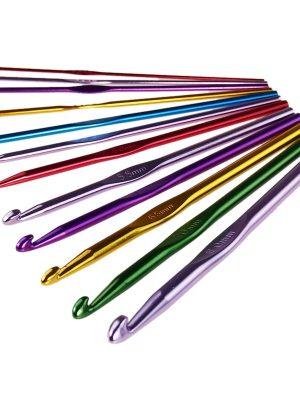 Крючки для вязания (алюмин., цветные) ОЛИН