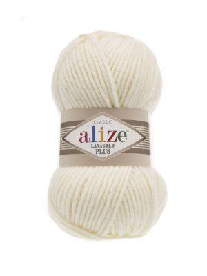 01 Alize Lanagold Plus (кремовый) упаковка