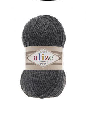 182 Alize Lanagold Plus (средне-серый меланж) упаковка