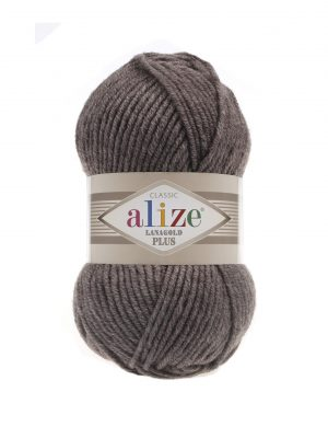 240 Alize Lanagold Plus (коричневый меланж) упаковка