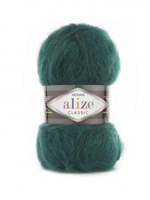 30 Alize Mohair Classic (зелёная утка)