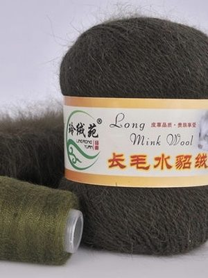 24 НОРКА Long Mink Wool (оливковый)